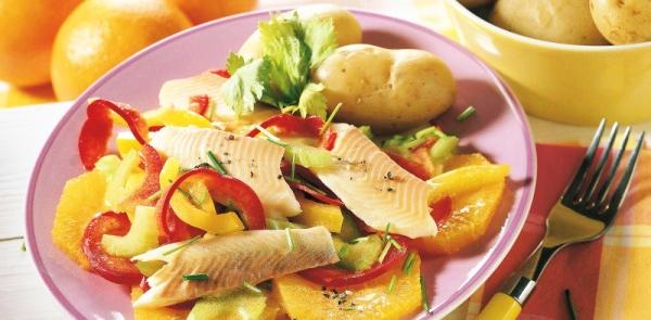 Необычные салаты и некоторые подсказки для приготовления рыбы